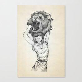The Lion's Roar Canvas Print