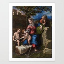 """Raffaello Sanzio da Urbino """"The Holy Family below the oak"""", 1518 Art Print"""
