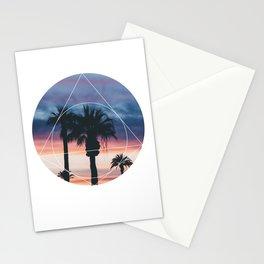 Sunset Palms - Geometric Photography Stationery Cards