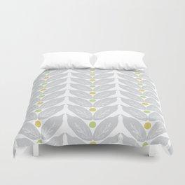 Grey Vine Modern Botanical Pattern Duvet Cover