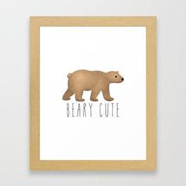 Beary Cute Framed Art Print