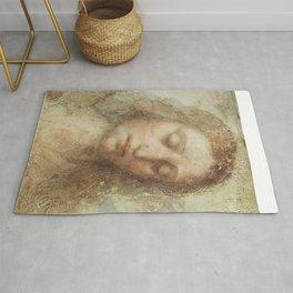 """Leonardo da Vinci """"Head of Christ"""" Rug"""