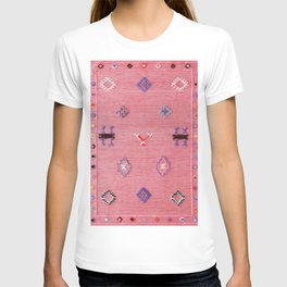 N61 - Lovely Pink Traditional Boho Farmhouse Moroccan Style Artwork T-shirt