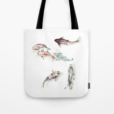 Koi Fish Watercolour Tote Bag