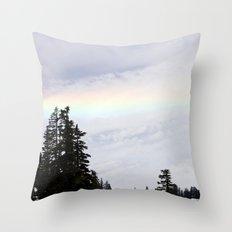 Mountaintop Rainbow Throw Pillow