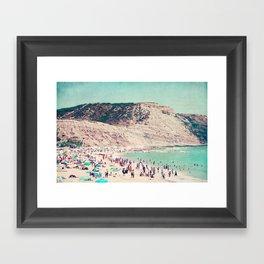 beach love V Framed Art Print
