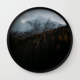 Blue Autumn in The Mountains Wall Clock