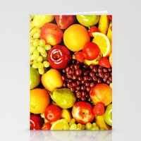 fruits Stationery Cards featuring FRUITS by Ylenia Pizzetti