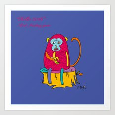 Red Monkey year Art Print