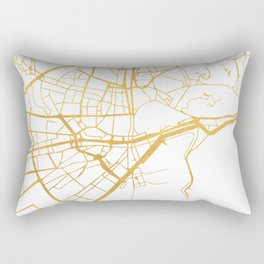 MALAGA SPAIN CITY STREET MAP ART Rectangular Pillow