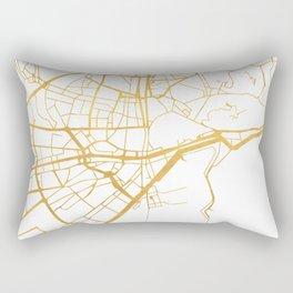 MALAGA SPAIN CITY STREET MAP ART Rectangular Pillow