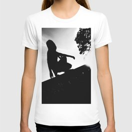 girl on a ledge T-shirt