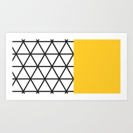 Yellow Isodictial Art Print