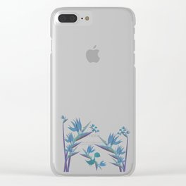 Floral Dragon Paradise 2 Clear iPhone Case