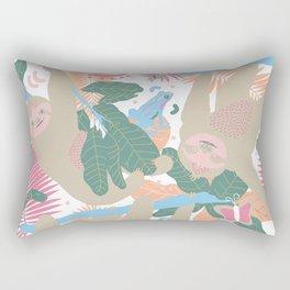 Swingin' Sloths in Pink + White Rectangular Pillow