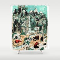 canada Shower Curtains featuring Wild Canada by Mathilde George