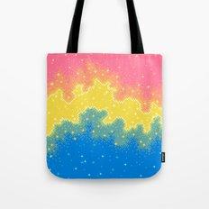 Pan Pride Flag Galaxy Tote Bag
