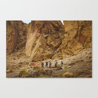 hiking Canvas Prints featuring Hiking by AngelaRiggs