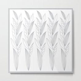 Eternity in Silver Leaf II Metal Print
