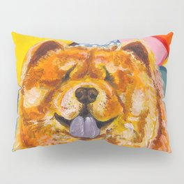 Chow Chow with Balloons Pillow Sham