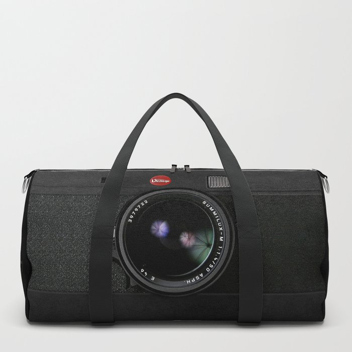 Vintage Black Camera Duffle Bag