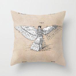 patent art Spalding Flying Machine  1889 Throw Pillow