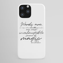 Words Are Magic (Light) iPhone Case