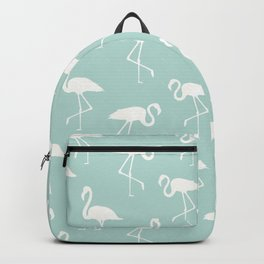 Flamingo Silhouettes, Pattern Of Flamingos - Blue Backpack