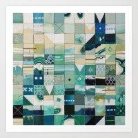 Sea Marks 1 Art Print