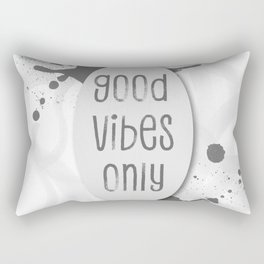 TEXT ART Good vibes only | grey Rectangular Pillow