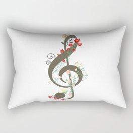 Floral sol key Rectangular Pillow