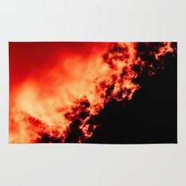Anger / All red Rug
