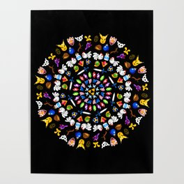 Ocarina of Time Mandala Poster