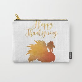 Happy Thanksgiving Turkey Minimal Abstract Carry-All Pouch