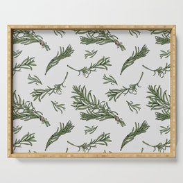 Rosemary rustic pattern Serving Tray