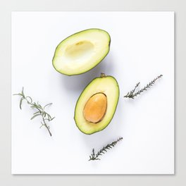 Avocado Slices Canvas Print