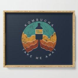 "KOMBUCHA ""Take Me Away"" Rocket // Mushroom Tea Graphic Design Scoby Health Drink Bubble Scooby Serving Tray"