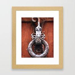 The Dragon Knocks Framed Art Print