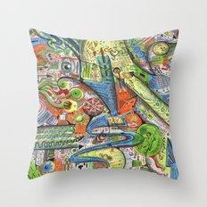 Madness Doodle Throw Pillow