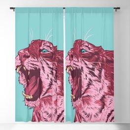 Magenta tiger Blackout Curtain