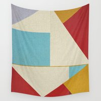 marc Wall Tapestries featuring Geometric Thoughts 5 by Fernando Vieira
