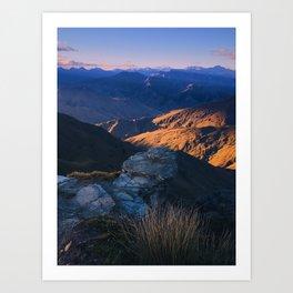 Coronet Peak, Otago, New Zealand Art Print