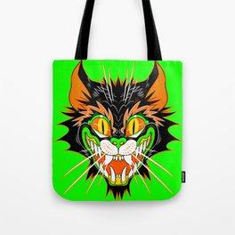 SPOOKY CAT (green) Tote Bag