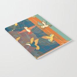 Hummingbirds in Orange Notebook