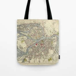 Map of St. Petersburg 1883 Tote Bag