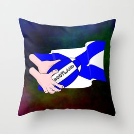 Rugby Scotland Flag Throw Pillow