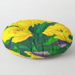 Yellow Tulips Floor Pillow
