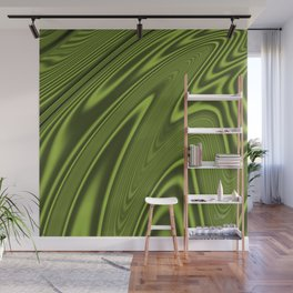 Abstract Fractal Colorways 03 Malalchite Lime Green Wall Mural