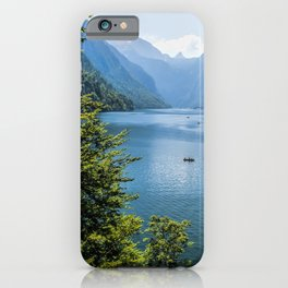 Germany, Malerblick,Koenigssee Lake III- Mountain Forest Europe iPhone Case
