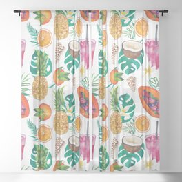 Summer #4 Sheer Curtain
